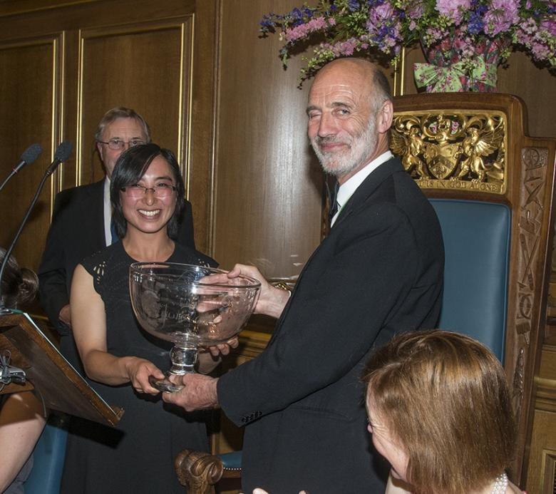 2016 - Prince of Wales Trophy Winner, Margaret Tran receives the Award from Master Paul Rochford
